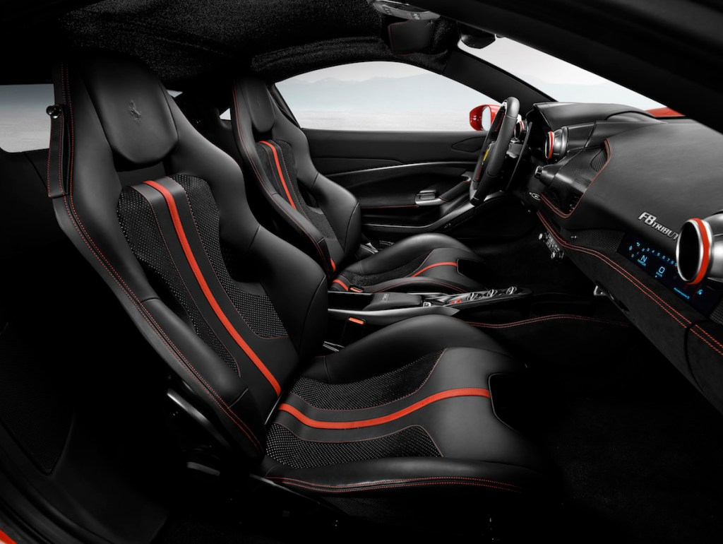 ferrari f8 tributo new model unique turbo turbo-charged models cockpit interior