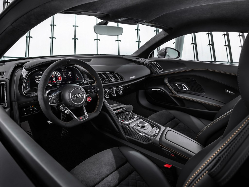 audi r8 v10 decennium limited edition special models 2019 cockpit interior