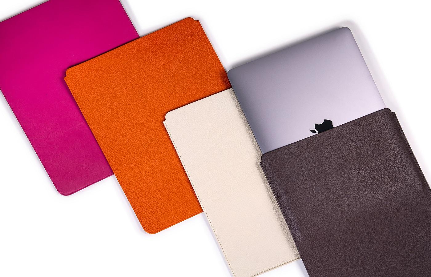 lederaccessoires macbook bunt notebookcase