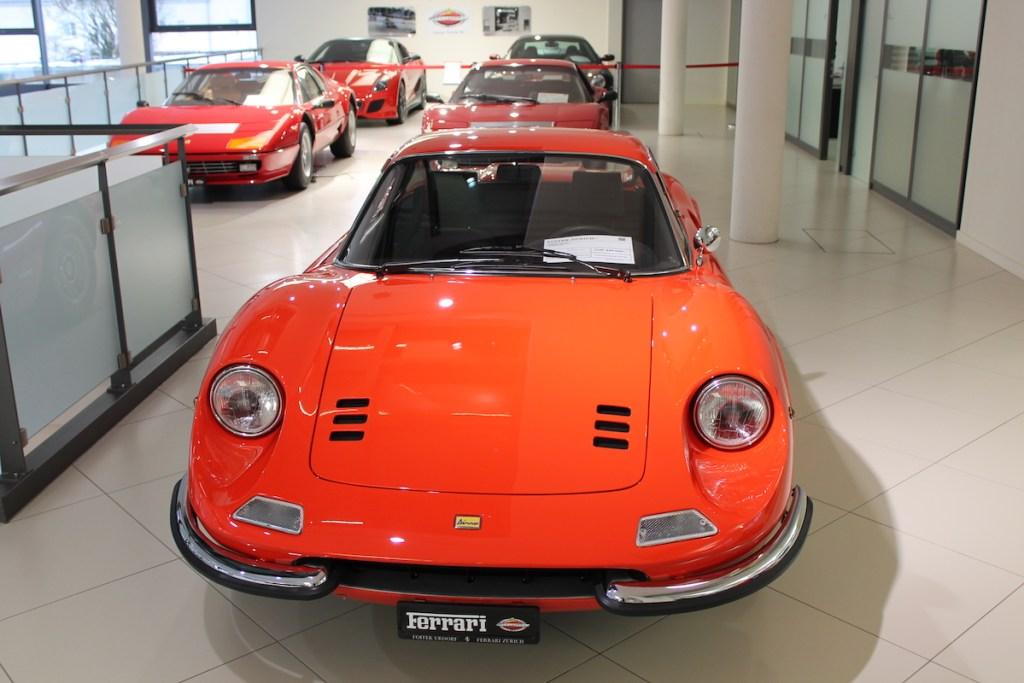 ferrari vertretung niederlassung schweiz zürich garage foitek ag urdorf ferrari-dino-gt oldtimer classic cars