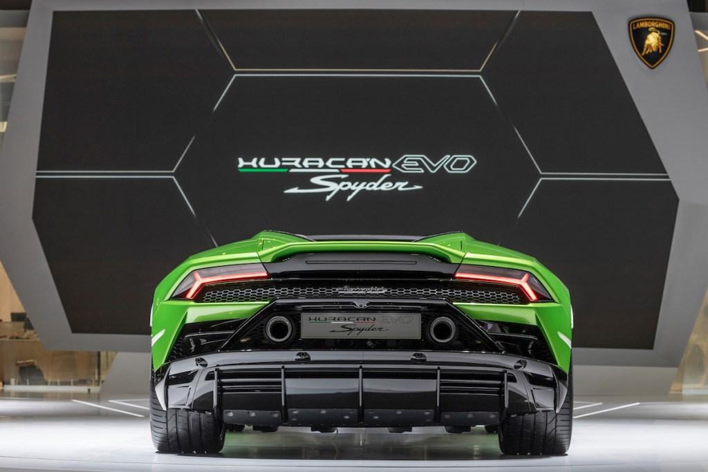 lamborghini-huracan-evo-spyder lamborghini huracan evo spyder modelle neuheiten cabrio cabriolet autosalon automobilsalon genf 2019 sportwagen