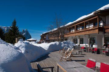 Direkt an den Loipen gelegen ist das Seiser Alm Urthaler perfekter Ausgangspunkt für Wintersportler