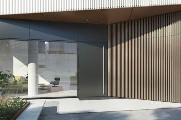 Moderne Aluminiumtür von Jansen Schüco