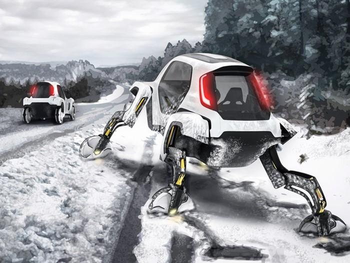 Projeto de carro articulado da Hyundai permite enfrentar qualquer terreno