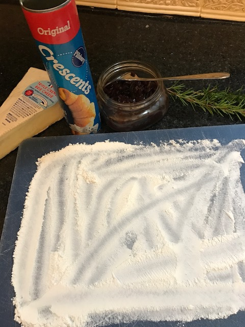 ingredients for crescent dough brie bites