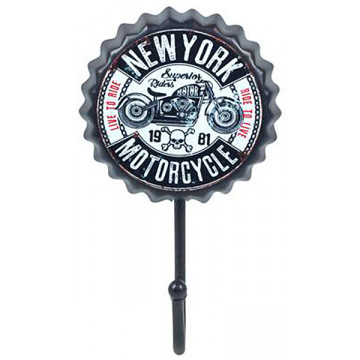 patere capsule metal 1 crochet new york motorcycle deco retro vintage provence aromes tendance sud