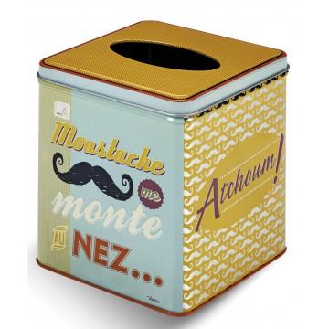 boite a mouchoirs moustache natives deco retro vintage