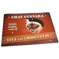 tapis pour gamelle chat guevara natives deco retro vintage humoristique provence aromes tendance sud