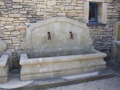 fontaines murales de jardin