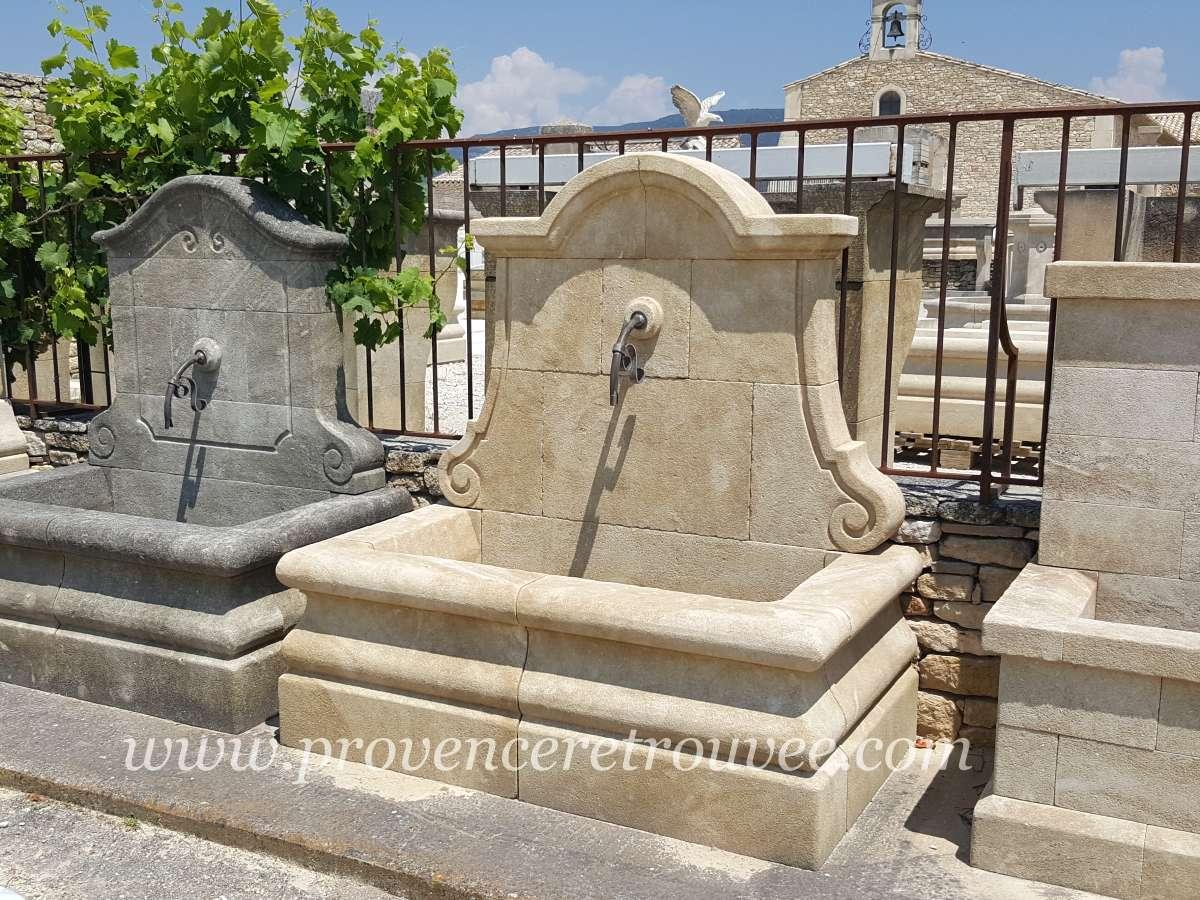 fontaine de jardin en pierre de