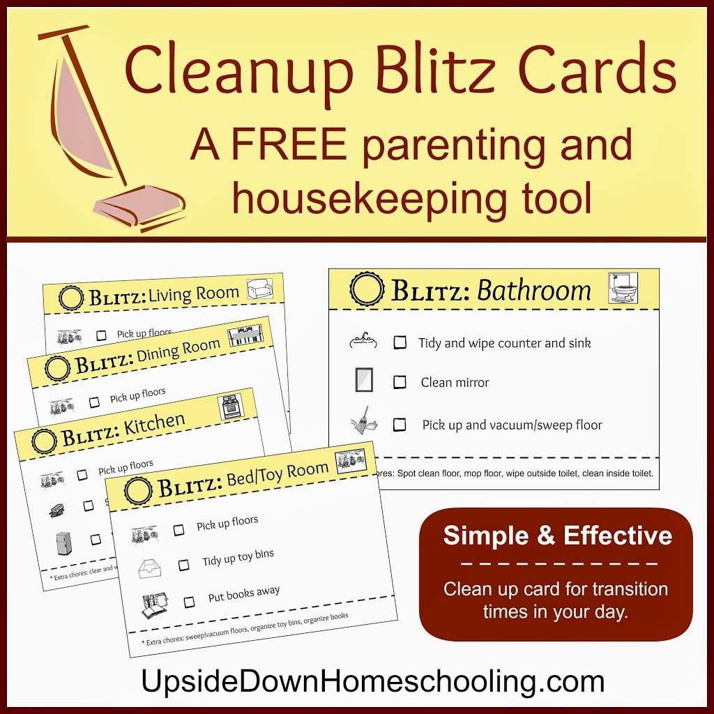 Cleanup Blitz A Housekeeping And Parenting Tool Free