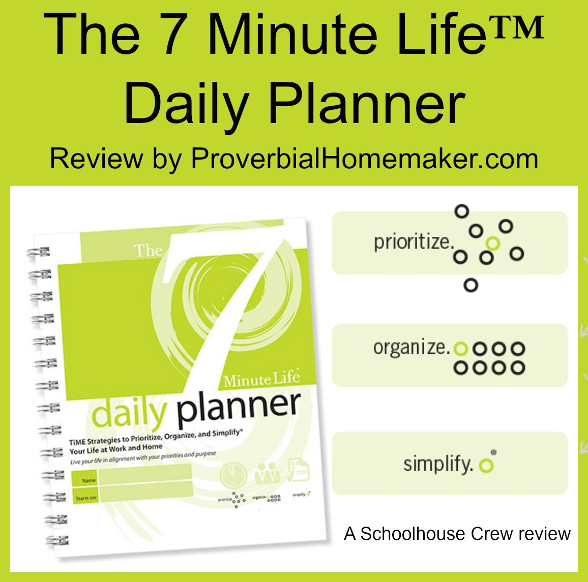 The 7 Minute Life Daily Planner