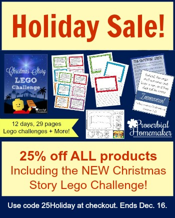 Get 25% off of all Proverbial Homemaker products