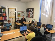 Students learning about coding in our Friday coding class!