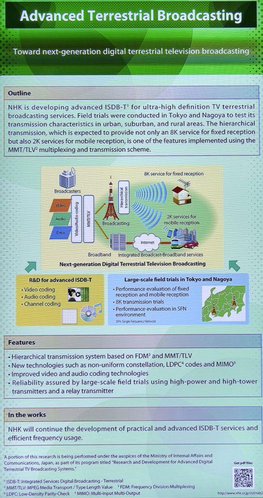 Terrestrial transmission testing at NHK