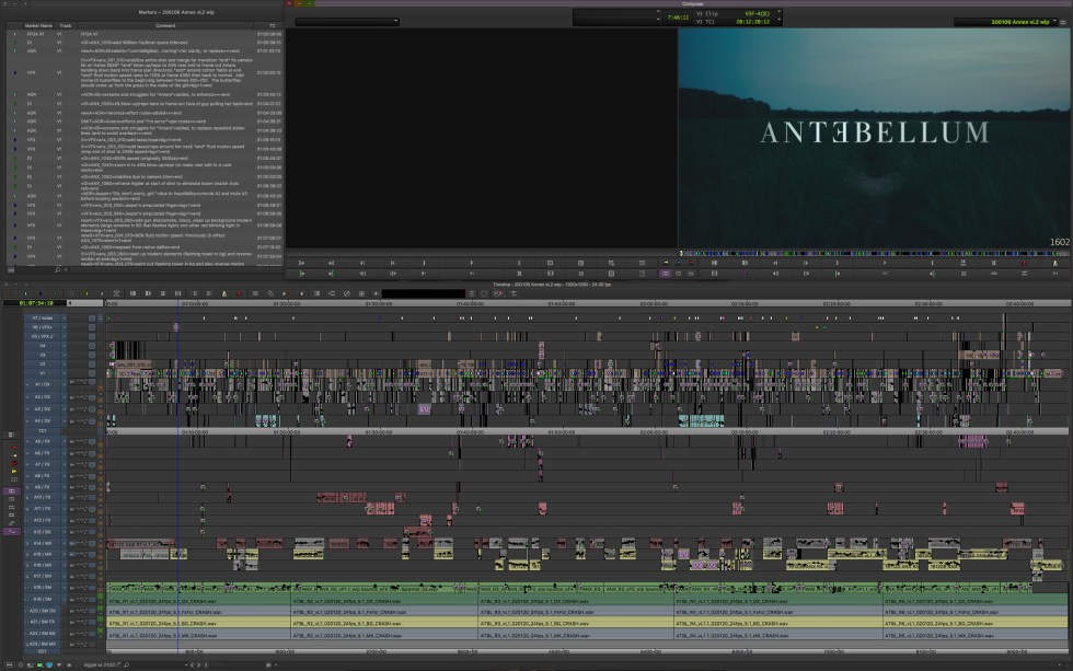 """ART OF THE CUT with John Axelrad, ACE and 1st AE Jared Simon on editing """"Antebellum"""" 19"""