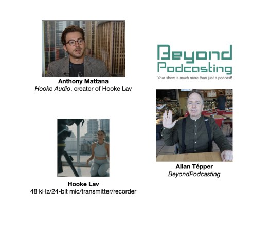 Interview with creator of Hooke Lav 48 kHz microphone-transmitter-recorder 35