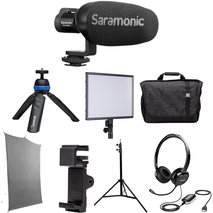 Review: Saramonic HomeBase3 kit with background, light, microphones and more 3