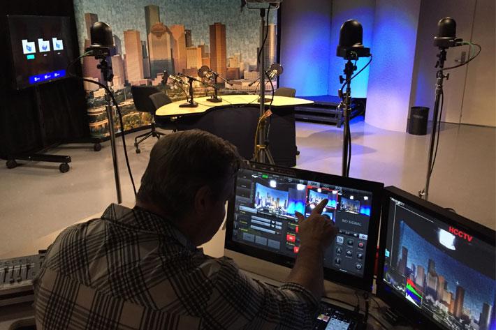 Podcast studio uses JVC's robotic PTZ video production cameras