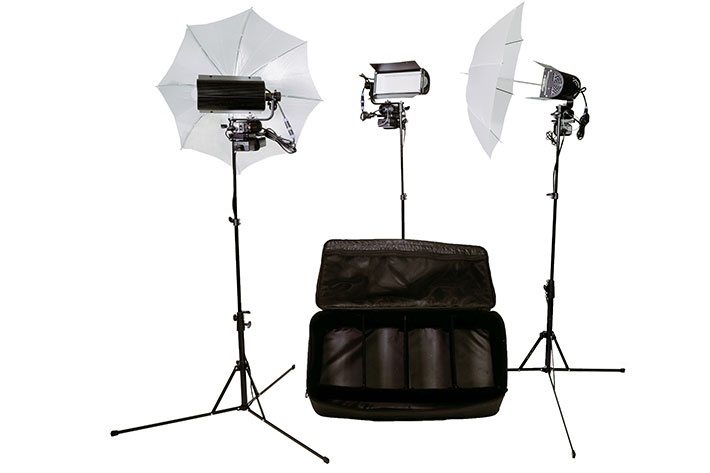 ota LED Production Kit: an always ready location lighting kit