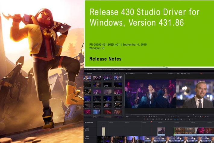 NVIDIA's new Studio Driver for DaVinciResolve and Cinema 4D