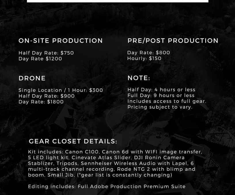 Rate Card – How Much Do Video Production Companies Charge
