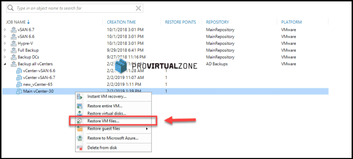 How to fix a vCenter Appliance partition with Veeam