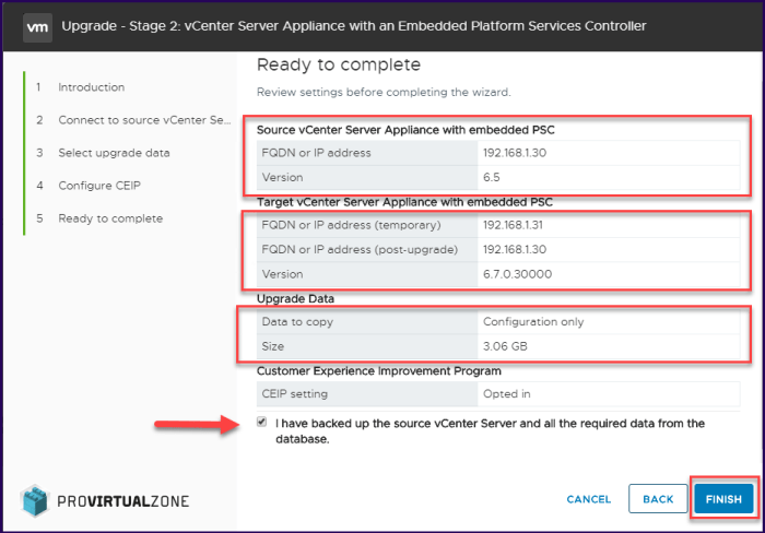 How to upgrade vCenter 6.5 to 6.7 and fix upgrade errors.
