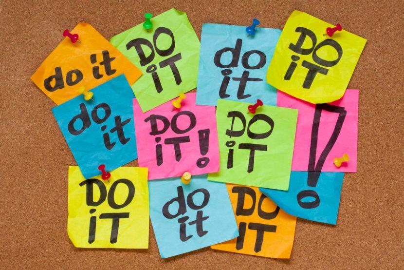 just do it, procrastination, inertia