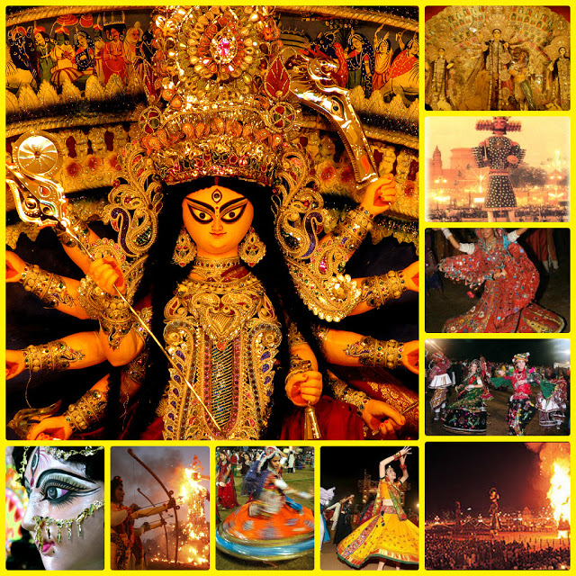 Varied hues of navaratri, durga puja and dussehra in India