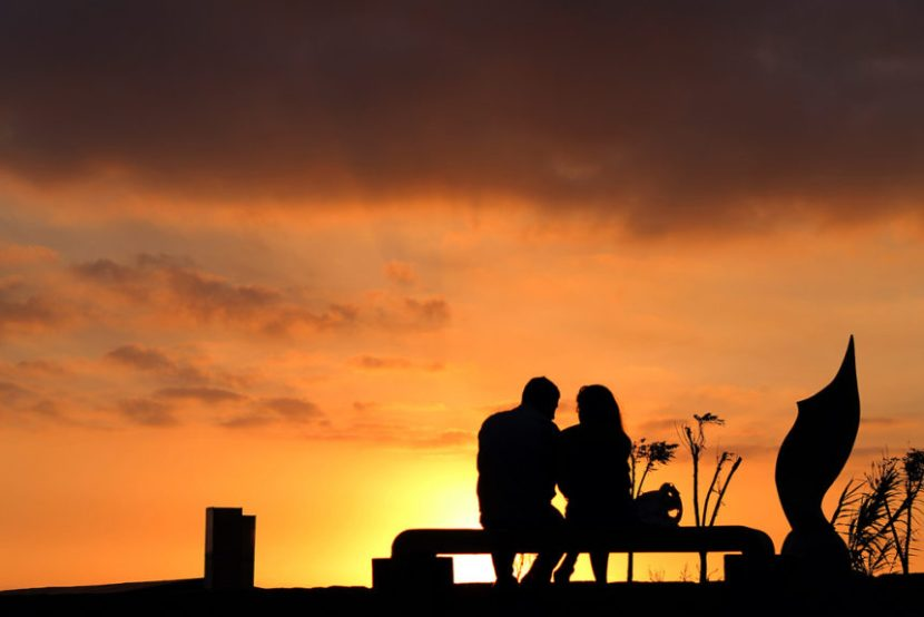 significant other, sunset, couple