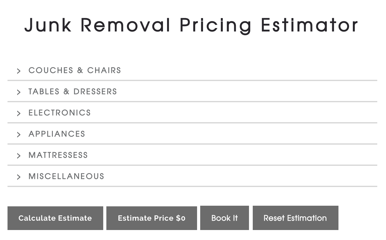 Junk Removal Price Estimator: How it Works!