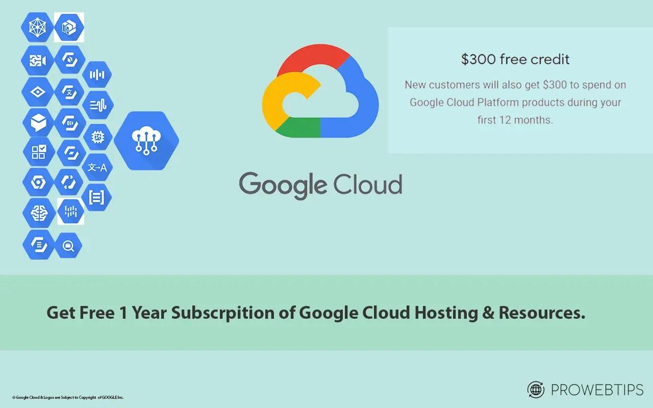 Google Cloud Platform free trial for 12 month