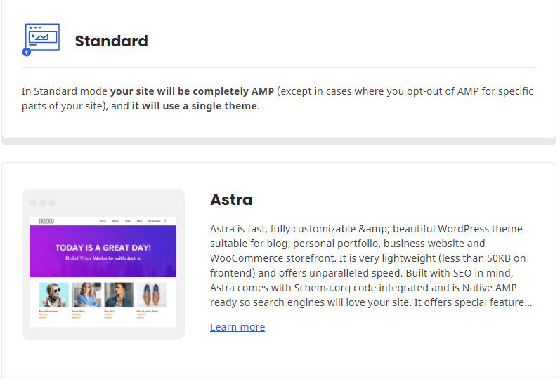 AMP for Astra