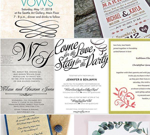 10 Por Wedding Invitation Wording