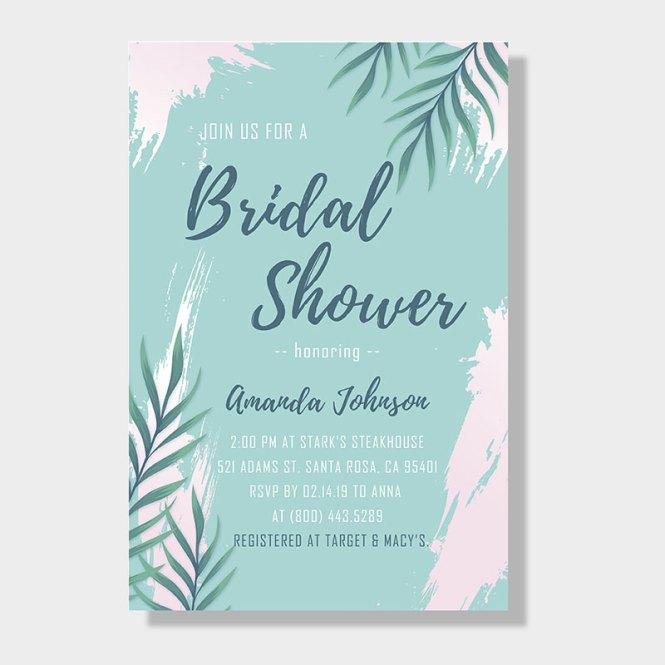 Bridal Shower Invitation Cards Pwib004