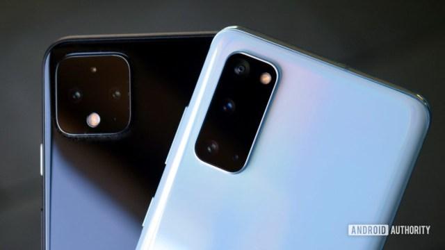 Google Pixel 4 versus Samsung Galaxy S20