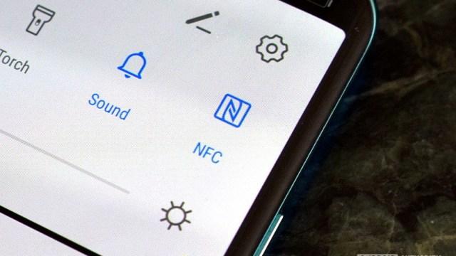 NFC toggle Android menu
