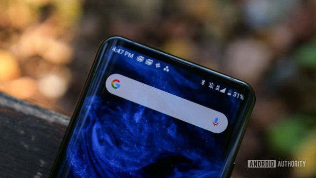 Nubia Z20 status bar and Google search bar 9
