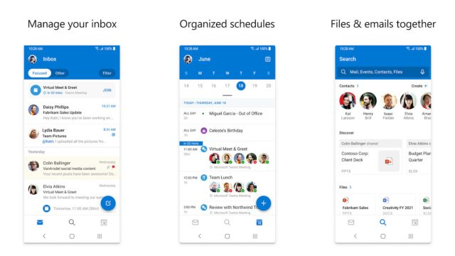 Microsoft Outlook 2020 screenshot