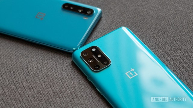 OnePlus 8T vs Nord with oneplus logo