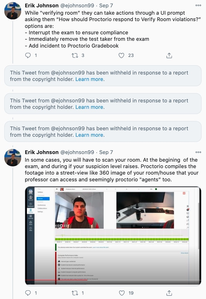 Proctorio used DMCA to take down a student's critical tweets – ProWellTech