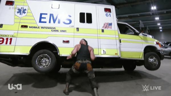 Braun Strowman ambulance flip
