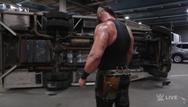 Braun Strowman flips over ambulance