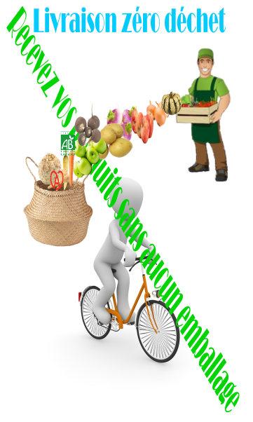 La livraison de fruits et légumes frais.