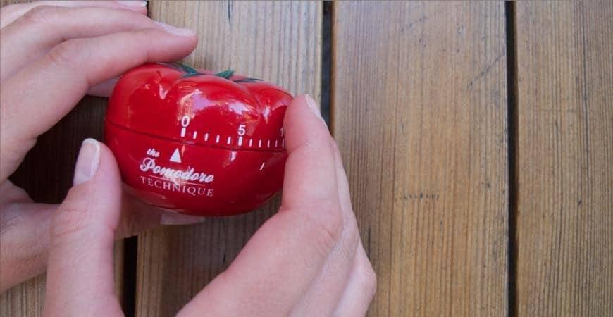 crônometro técnica pomodoro