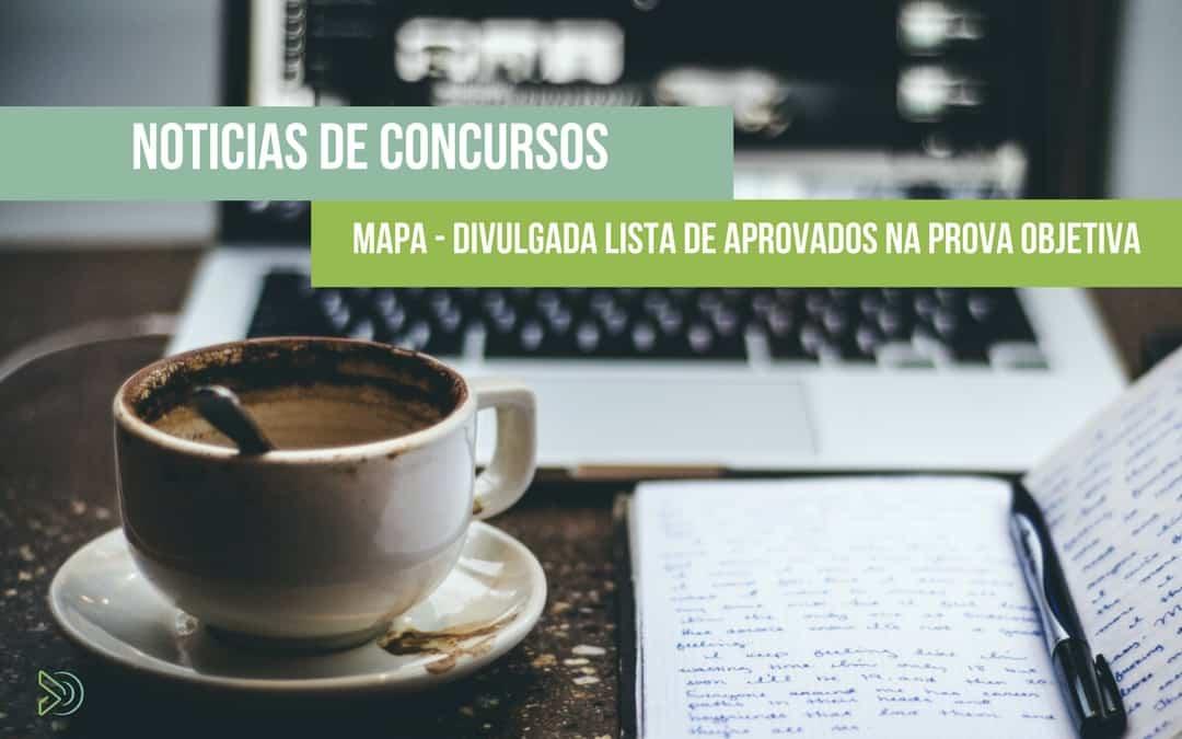 MAPA Concurso – Divulgada a lista de Aprovados na Prova Objetiva