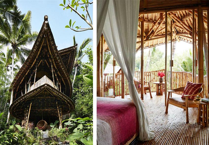 ejemplos de bioconstrucción: casa de bambu
