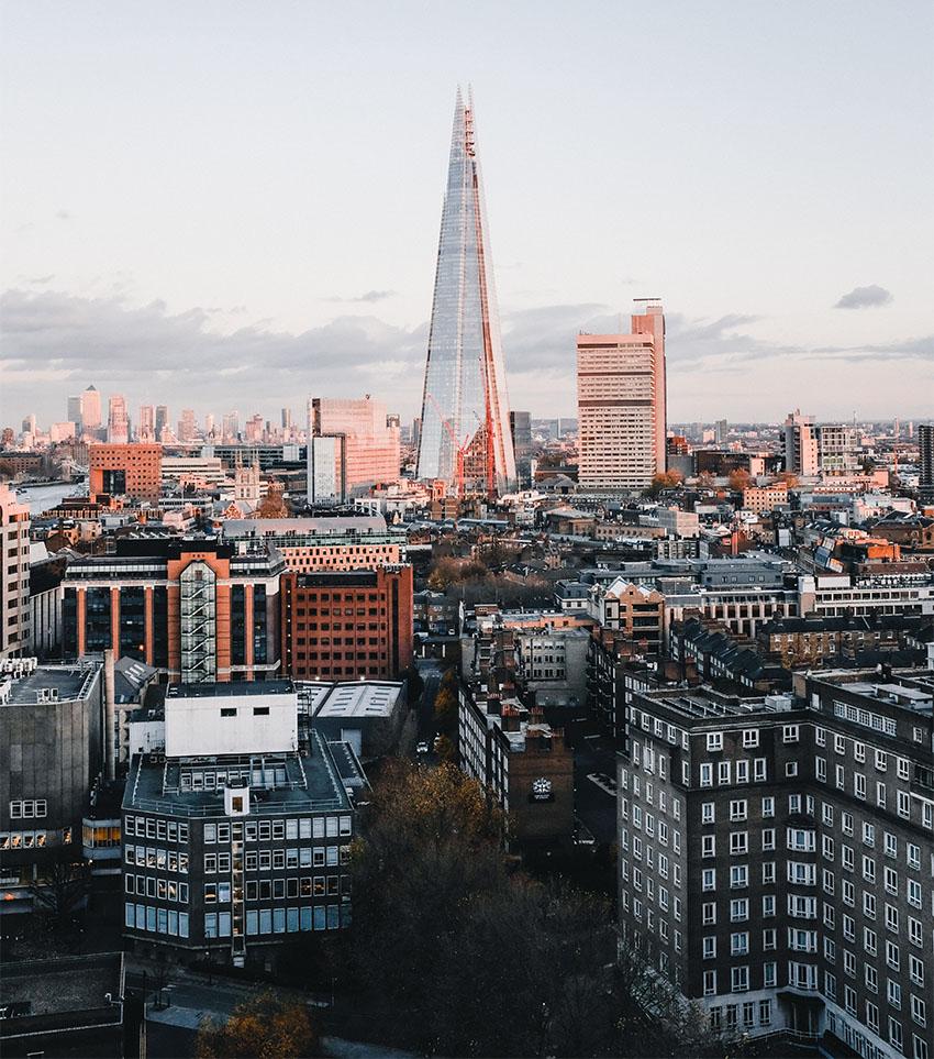 iconos del skyline de Londres: el Shard