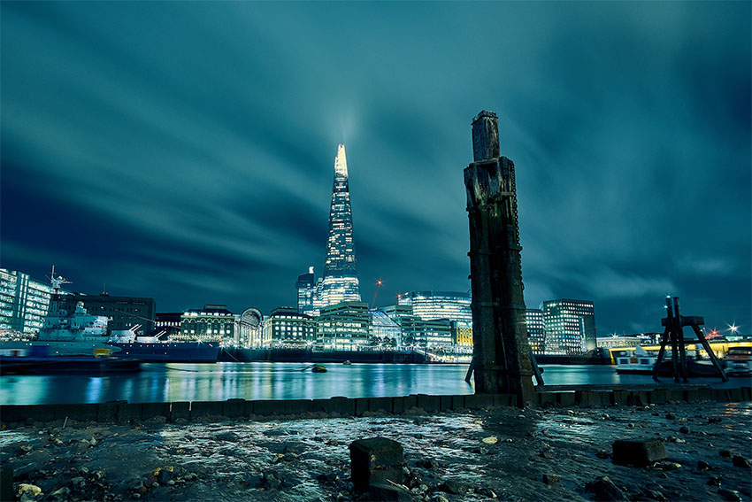 iconos del skyline de Londres: el Shard
